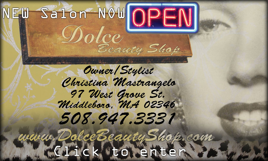 dolce beauty shop middleboro ma hair salon hair style cutting 97 west grove st. christina mastrangelo 508.947.3331